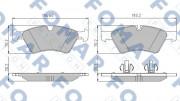 Тормозные колодки FOMAR FO 858781