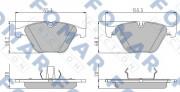Тормозные колодки FOMAR FO 922681