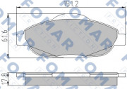 Тормозные колодки FOMAR FO 929581