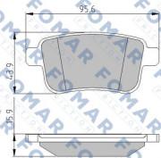 Тормозные колодки FOMAR FO 935681