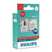 Комплект светодиодов Philips Vision LED (P21W / BA15S) 12839REDX2
