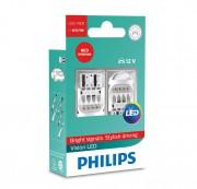 Комплект светодиодов Philips Vision LED (W21/5W) 12835REDX2
