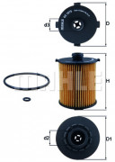 Масляный фильтр MAHLE OX1075D