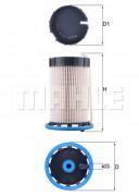 Топливный фильтр MAHLE KX592
