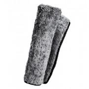 Серое плюшевое полотенце из микрофибры с вафельным узором Adam's Polishes Grey Plush Waffle Microfiber Towel (40х60см)