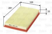 Воздушный фильтр VALEO 585103