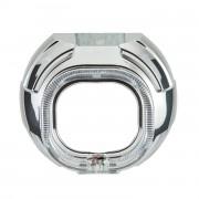 Маска для биксеноновых линз Q5-SQR 3.0` (76мм), 2.5` (65мм) с ангельскими глазками