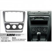 Переходная рамка AWM 781-08-101 для Skoda Octavia 2008-2013, 2 DIN