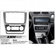 Переходная рамка AWM 781-08-102 для Skoda Octavia 2008-2013, 2 DIN