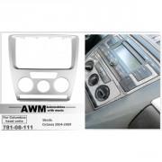 Переходная рамка AWM 781-08-111 для Skoda Octavia 2004-2009, 2 DIN