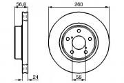 Тормозной диск BOSCH 0986478293