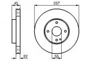 Тормозной диск BOSCH 0986478638