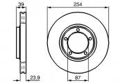 Тормозной диск BOSCH 0986478714