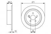 Тормозной диск BOSCH 0986479613