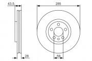 Тормозной диск BOSCH 0986479S62