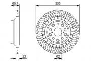 Тормозной диск BOSCH 0986479T35