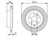 Тормозной диск BOSCH 0986479U44