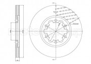 Тормозной диск METELLI 23-1618