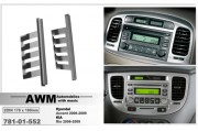 Переходная рамка AWM 781-01-552 для Hyundai Accent / KIA Rio, 2 DIN