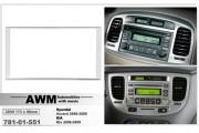 Переходная рамка AWM 781-01-551 для Hyundai Accent 2006-2009 / KIA Rio 2006-2009 , 2 DIN