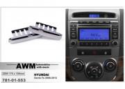 Переходная рамка AWM 781-01-553 для Hyundai Santa Fe 2006-2012, 2DIN