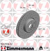Тормозной диск ZIMMERMANN 150.2936.52