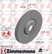 Тормозной диск ZIMMERMANN 150.2947.20