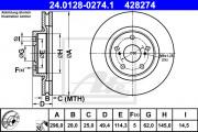 Тормозной диск ATE 24.0128-0274.1