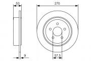 Тормозной диск BOSCH 0986479A79
