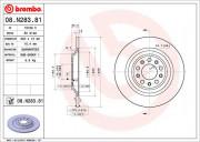 Тормозной диск BREMBO 08.N283.81