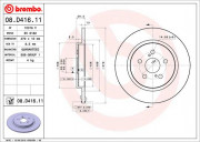 Тормозной диск BREMBO 08.D416.11