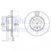 Тормозной диск DELPHI BG2433