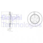 Тормозной диск DELPHI BG4212