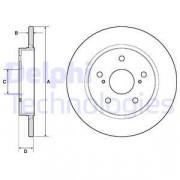 Тормозной диск DELPHI BG4183C
