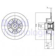 Тормозной диск DELPHI BG9028RSC
