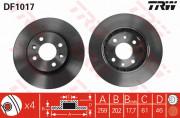 Тормозной диск TRW DF1017