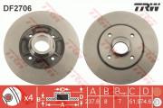 Тормозной диск TRW DF2706