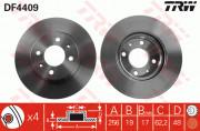 Тормозной диск TRW DF4409