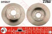 Тормозной диск TRW DF6027