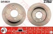 Тормозной диск TRW DF4931