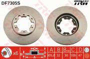 Тормозной диск TRW DF7305S