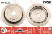 Тормозной диск TRW DF4929