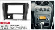 Переходная рамка Carav 11-628 для Mitsubishi Lancer IX 2006-2012, Soueast Lioncel 2006-2010, 2 DIN