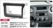 Переходная рамка Carav 11-705 для Renault Master, Opel Movano, Nissan NV400 2010+, 2 DIN