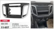 Переходная рамка Carav 11-657 для Hyundai iX-25 2014+, Creta 2015+, 2 DIN