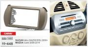 Переходная рамка Carav 11-448 для Suzuki Alto (HA25S/HA35S) 2009+, Mazda Carol 2009-2014, 2 DIN