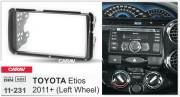 Переходная рамка Carav 11-231 для Toyota Etios 2011+, 2 DIN