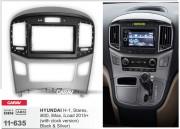 Переходная рамка Carav 11-635 для Hyundai H-1, Starex, i800, iLoad, iMax 2015+, 2 DIN