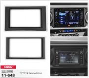 Переходная рамка Carav 11-648 для Toyota Tacoma 2016+, 2 DIN