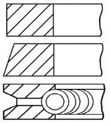 Поршневые кольца GOETZE 08-103100-00